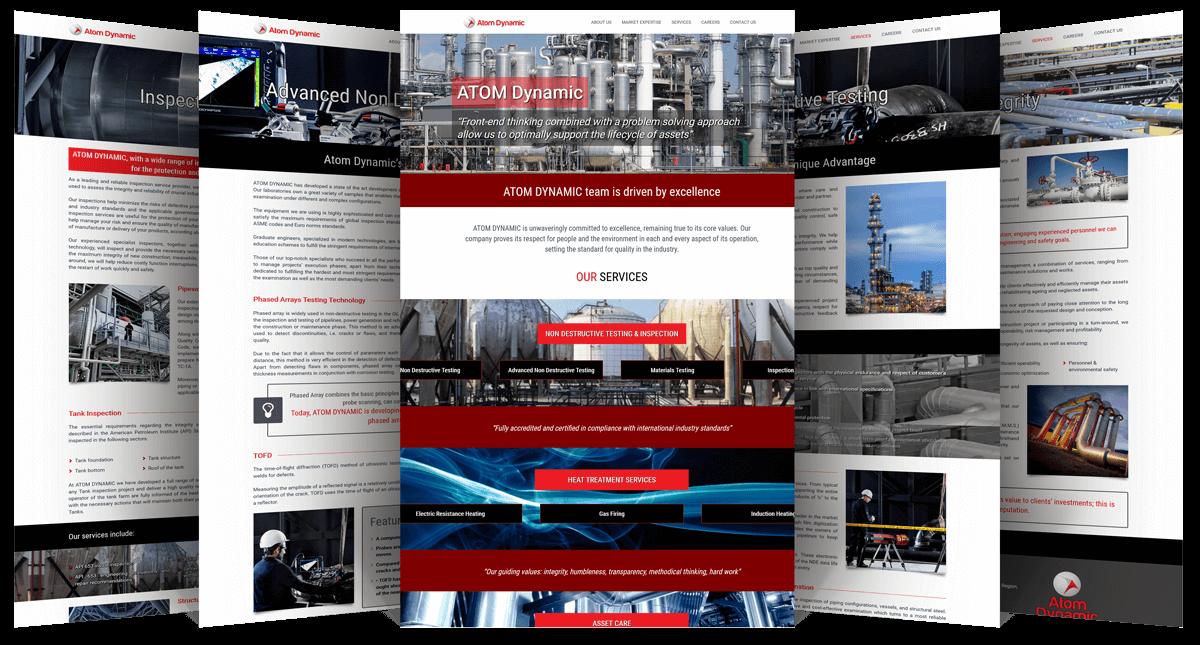 Εικόνες της Ιστοσελίδας atomdynamic.gr