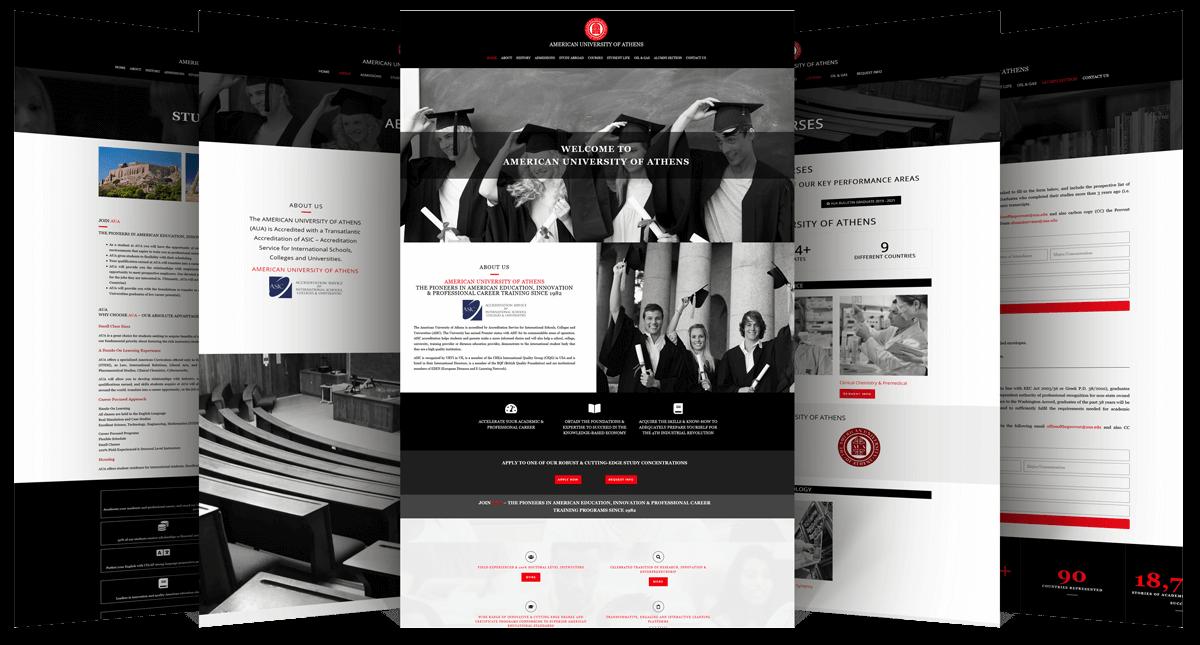 Εικόνες της Ιστοσελίδας aua.edu