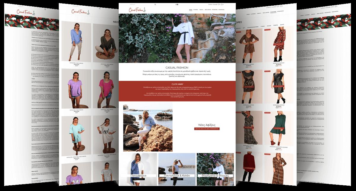 Εικόνες του E-Shop casualfashion.gr