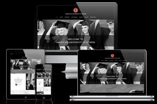 Απεικόνιση της Αρχικής Σελίδας της Ιστοσελίδας aua.edu
