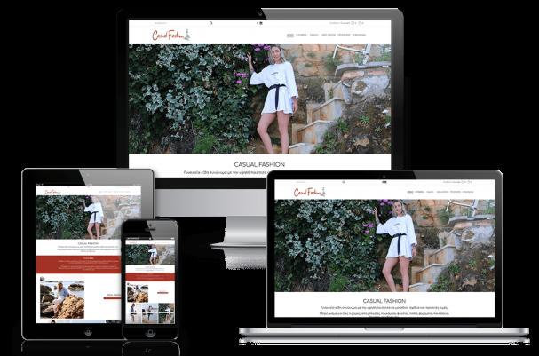 Απεικόνιση της Αρχικής Σελίδας του E-Shop casualfashion.gr