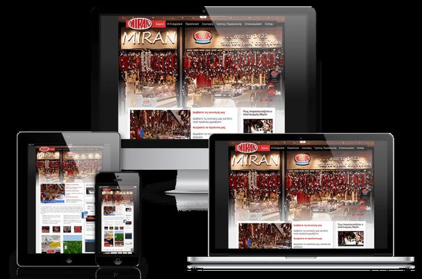 Απεικόνιση της Αρχικής Σελίδας της Ιστοσελίδας miran.gr